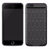 Baseus Plaid 3650mah İphone 7 Plus Şarjlı Kılıf Magnetic Siyah