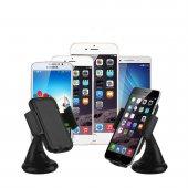 Araç İçi Telefon Tutucu 360 Derece Vantuzlu Cam Askısı Telefon Tutacağı