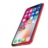 Baseus Soft İnce Silikon iPhone X Kırmızı Kılıf Arka Koruyucu Kapak-2