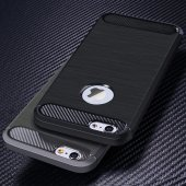 iPhone 6s Plus Silikon Kılıf Rush Arka Kapak + Ekran Koruyucu Temperli Cam-3