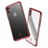 Baseus Minju İphone X Kırmızı Kılıf Arka Koruyucu Kapak