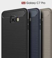 Samsung Galaxy C7 Pro Kılıf Kap Rush Kapak Koruyucu + Kırılmaz Cam Ekran
