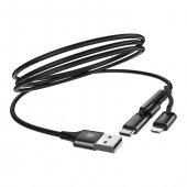 Baseus Lightning Type C Micro Usb Hızlı Şarj Kablosu