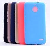 Motorola E4 Kılıf Premium Silikon Kap Kapak + Kırılmaz Cam Ekran Koruyucu
