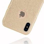 Apple iPhone X Shining Gold Silikon Kılıf Arka Koruyucu Kapak-2