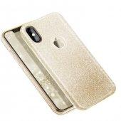 Apple iPhone X Shining Gold Silikon Kılıf Arka Koruyucu Kapak-3