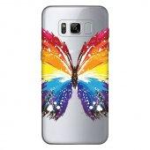 Samsung Galaxy S8 Kılıf Butterfly Silikon Kap Kapak + Kırılmaz Cam Ekran Koruyucu