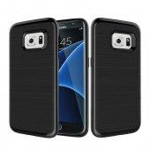 Samsung Galaxy S7 Edge Siyah Kılıf Arka Koruyucu Kapak