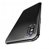Baseus Small Hole İphone X Siyah Kılıf Arka Koruyucu Kapak