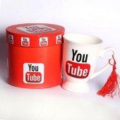 Youtube Kupa Seramik Mug Cup Özel Kutusuyla Youtuber Lar İçin Şık Bir Aksesuar