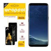 Wrapsol Samsung Galaxy S8 Ön Arka Yan Ekran Koruyucu Sararmaz Orijinal 360 Full Body Tpu
