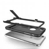 Gizli Stand Ayaklı Siyah Apple iPhone 7 Kılıf Arka Koruyucu Kapak-2