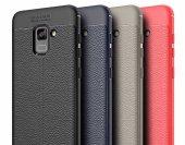 Samsung Galaxy A8 2018 Kılıf Kap Nish Silikon Kapak + Kırılmaz Cam Ekran Koruyucu