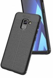 Samsung Galaxy A8 Plus 2018 Kılıf Kap Nish Silikon Kapak + Kırılmaz Cam Ekran Koruyucu-2