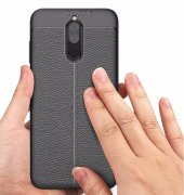 Huawei Mate 10 Lite Kılıf Kap Nish Silikon Arka Kapak + Ekran Koruyucu Nano Kırılmaz Cam-3