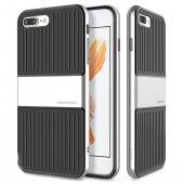 Baseus Travel Gümüş Gri İphone 7 Plus İphone 8 Plus Kılıf Arka Koruyucu Kapak