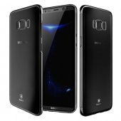 Baseus Glitter Siyah Samsung Galaxy S8 Kılıf Arka Koruyucu Kapak