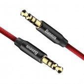 Baseus Yıven Aux Kablo 1mt Kırmızı