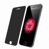 Apple İphone 6 6s Privacy Gizli Siyah Ekran Koruyucu Cam