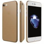 Apple İphone 8 Ultra İnce Gold Kılıf Arka Koruyucu Kapak