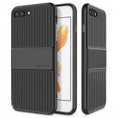 Baseus Travel Siyah İphone 8 Plus Kılıf Arka Koruyucu Kapak