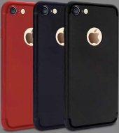 Iphone 6s Plus Kılıf Elde Kaymayan Silikon Kapak + Kırılmaz Ekran Koruyucu Cam