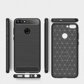 Huawei P Smart Kılıf Kap Rusk Silikon Kapak + Kırılmaz Cam Ekran Koruyucu-2