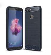 Huawei P Smart Kılıf Kap Rusk Silikon Kapak + Kırılmaz Cam Ekran Koruyucu-5