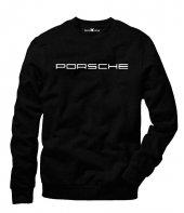 Tshirthane Porsche Logo Sweatshirt Uzunkollu