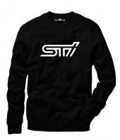 Tshirthane Subaru Sti Logo Sweatshirt Uzunkollu