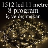 Led Işık Salkım Sıcak Beyaz 1512 Led 10.5 Metre...