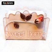 Favorim Sweet Home Gül Desenli Peçetelik