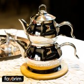 Favorim Mini Çaydanlık Metal Premium