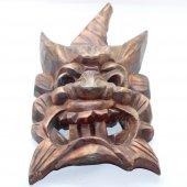 Teak Ağacından El İşi Dekoratif Maske