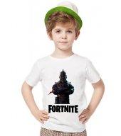 Tshirthane Fortnite Kara Şovalye Tişört Çocuk Tshirt