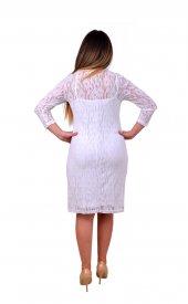 Perimir Özel Tasarım Bağcıklı Dantel Elbise-2
