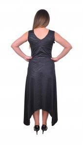 Perimir Özel Tasarım Siyah Deri Baskılı Elbise-2