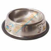 Kedi Köpek Çelik Mini Su Kabı Kaydırmaz Tabanlı...