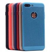 Apple iPhone 7 Kılıf Delikli Rubber Kapak Arka Koruma-2
