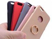 Apple iPhone 6 Plus Kılıf Yüzüklü Rubber Kapak-5