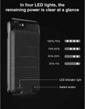 Apple iPhone 7 8 Plus Baseus Ample Bataryalı Şarjlı Kılıf 3650 Mah-5