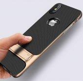 Apple iPhone X Kılıf Standlı Verus Arka Kapak-2