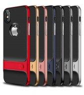Apple iPhone X Kılıf Standlı Verus Arka Kapak-6