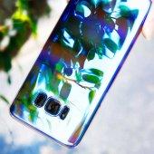 Samsung Galaxy S8 Kılıf Lopard Renkli Transparan Arka Kapak Gökkuşağı-2