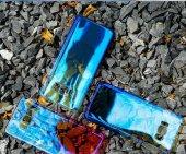 Samsung Galaxy S8 Kılıf Lopard Renkli Transparan Arka Kapak Gökkuşağı-3