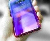 Samsung Galaxy S8 Kılıf Lopard Renkli Transparan Arka Kapak Gökkuşağı-4