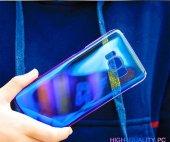 Samsung Galaxy S8 Kılıf Lopard Renkli Transparan Arka Kapak Gökkuşağı-5