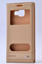 Samsung Galaxy A3 2016 Kılıf Lopard Elite Kapaklı Kılıf Ön Arka Full Koruma