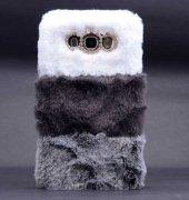 Samsung Galaxy J7 Kılıf Lopard Kulaklı Peluş Kapak-4