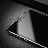 Apple İphone X Baseus 0.25mm Full Cam Anti Parmak İzi Bırakmayan Temperli Cam